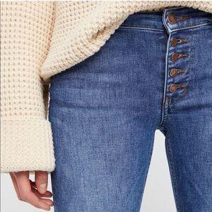 Free People raw skinny jeans